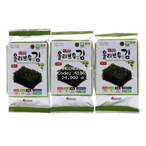 Rong biển cuộn cơm ăn liền Hàn Quốc Garimi lốc 3 gói - 12.6g