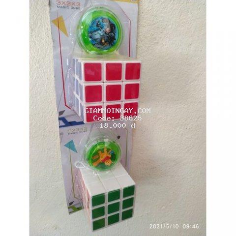 Rubik 3x3 kèm con quay zozo