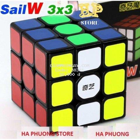 Rubik 3x3 Qiyi Sail W Rubic 3 Tầng Khối Lập Phương Ma Thuật Xoay Mượt , Lõi Cứng Cáp, Bền - RB01