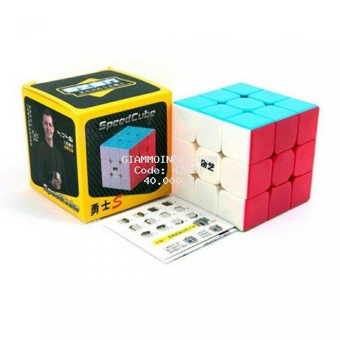 Rubik 3x3 QiYi Warrior S Rubic 3 Tầng không viền