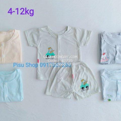 Set 5 bộ cotton cho bé (4-12kg)
