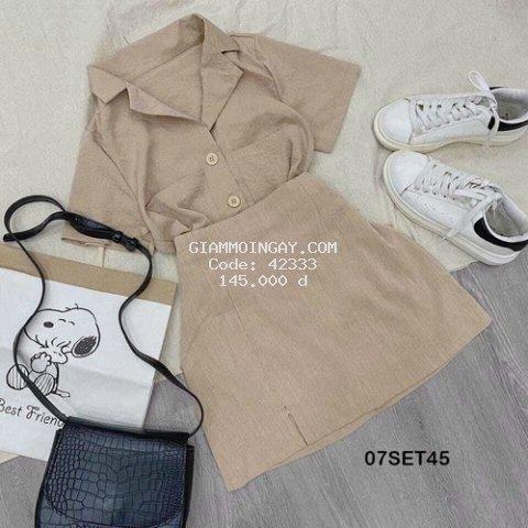 Set Áo Sơmi +Chân váy