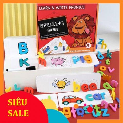 Spelling Game - Đồ chơi học chữ cái, học ghép chữ và học đánh vần chữ tiếng anh bằng gỗ