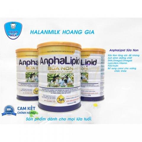 Sữa Anphalipid Sữa Non Halan Milk 900gr - Tăng sức đề kháng, chống loãng xương, giảm mệt mỏi