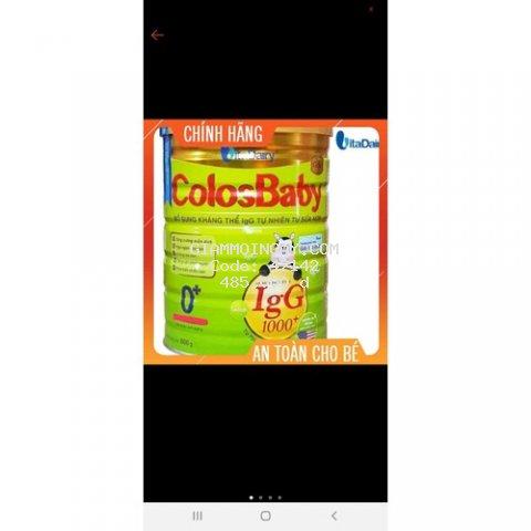 Sữa bột ColosBaby gold 1000IgG 0+ lon 800g