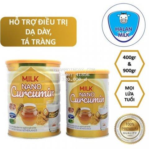 Sữa Nghệ Halan Milk Nano Curcumin 400gr-900gr - Tốt cho người bị dạ dày, đại tràng