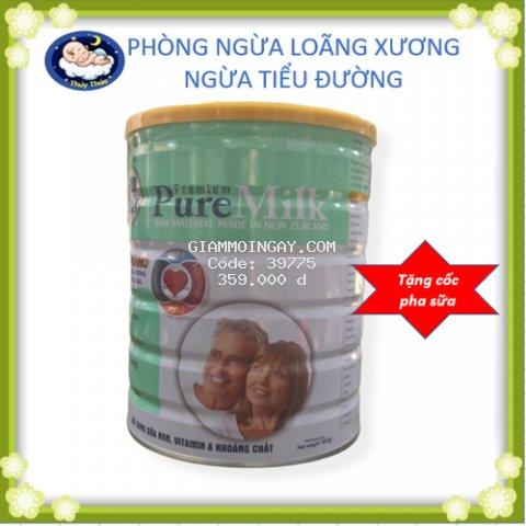 Sữa PureMilk hộp 850g  phòng ngừa loãng xương, ngăn ngừa tiểu đường