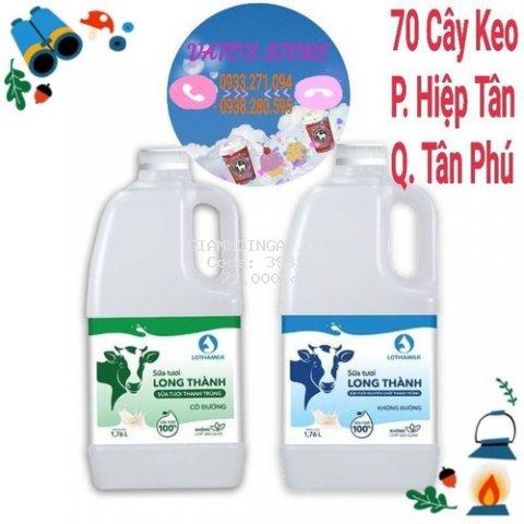Sữa tươi thanh trùng Long Thành Lothamilk 1760ml có đường/ không đường
