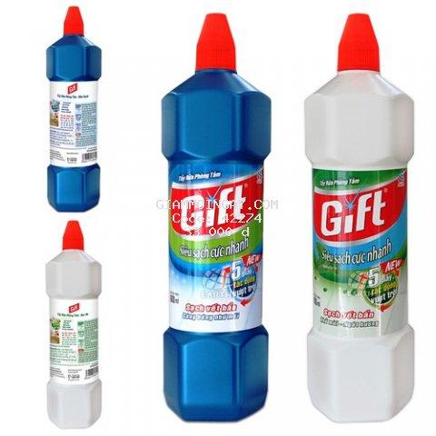 Tẩy Rửa Toilet Gift Siêu Sạch và Bạc Hà 900ml (2 hương thêm sự lựa chọn)