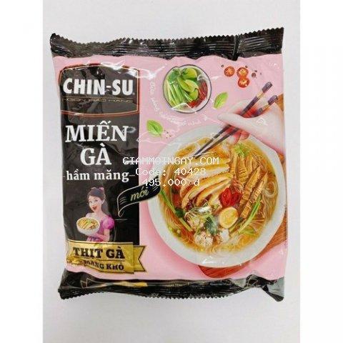 (Thùng 15 gói) Chinsu Miếng gà hầm măng gói
