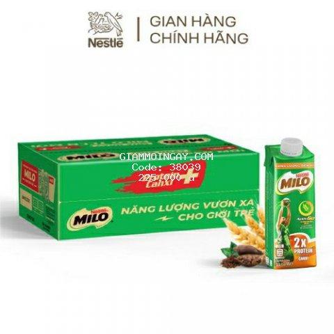 thùng 24 hộp sữa lúa mạch Nestle milo lắp vặn 210ml