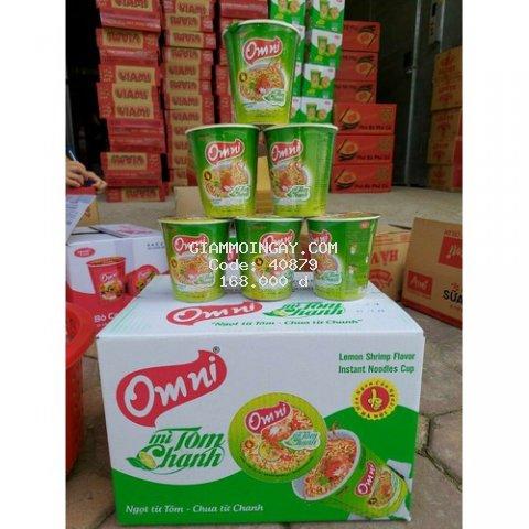 Thùng mì cốc tôm chanh Omni 24 cốc/ thùng - date luôn mới