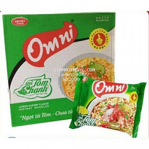 Thùng mì tôm chanh Omni 30 gói/thùng- date luôn mới