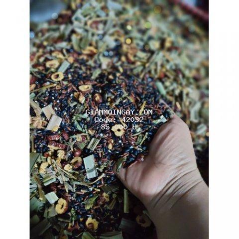 trà gạo lứt đỗ đen táo đỏ