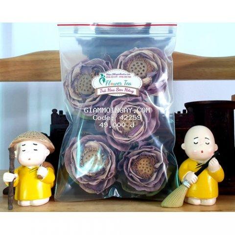 Trà sen hồng sấy khô Đồng Tháp - combo 5 bông