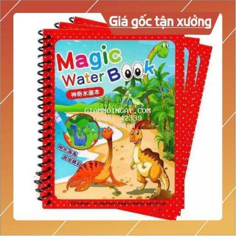 Tranh tập tô màu ma thuật MAGIC WATER giấy tự mất màu, hàng nhập khẩu kích thước 15x20cm cho bé.từ 3 đến 6 tuổi