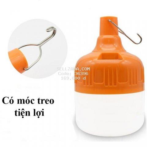 [ TRỢ SHIP 15K ] Bóng đèn Led sạc tích điện 100w có móc treo BH 1 đổi 1 6 tháng tặng sạc USB