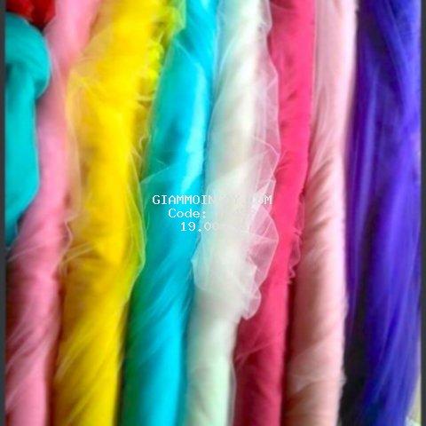 Vải lưới tutu mềm đẹp may váy công chúa