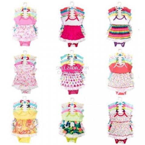 Váy bé gái - SET 5 BODY VÁY CHO BÉ(0-12 THÁNG)