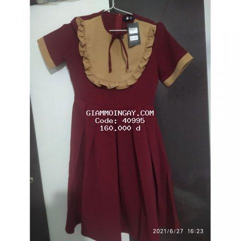 váy xoè đỏ( thanh lý váy thiết kế)