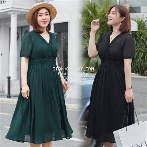 Vbeo396 - Váy cổ V chun eo