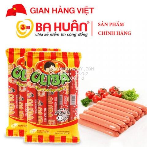 Xúc Xích Tiệt Trùng Oliba Heo 175g - Ba Huân (5 cây x 35g)